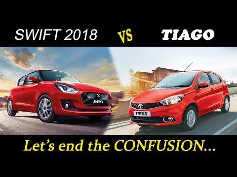 Maruti Suzuki Swift 2018 vs Tata Tiago (top model comparision)