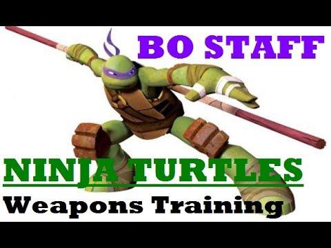 NINJA TURTLES Weapons Training | BO STAFF | Donatello