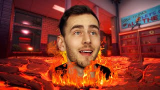 The FLOOR is LAVA Deathrun (Hot Lava Gameplay)