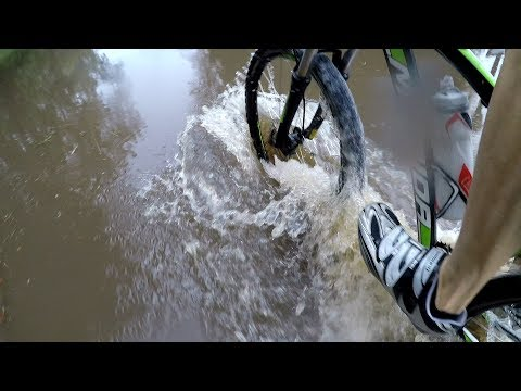 Wet Solo Ride Through Flooded Roads & The Natural Bike Wash