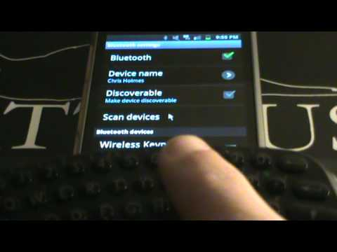 How To Connect PS3 Keypad With A Bluetooth Phone (Samsung Galaxy S)