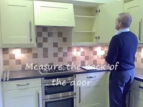 Replacing kitchen doors - measuring guide