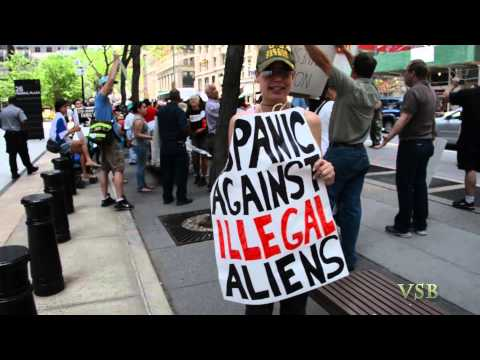 Joanna Marzullo Interview at the NY ICE Counter Demonstration June 2014 Part 1 (of 3)