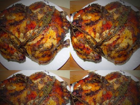Guyanese and Caribbean Style Oven Roasted Chicken