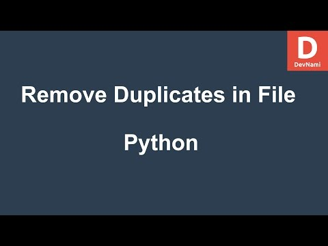 Python Remove Duplicates from Text File
