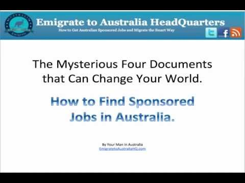 How to Find Sponsored Jobs in Australia