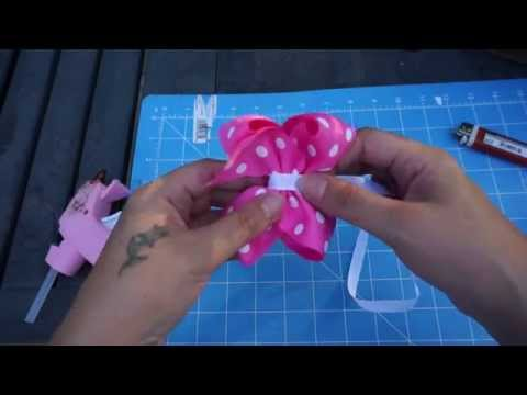 Step 2 - How to Make a Boutique Bow Single Layer with Artemis in Love ( Lesson 2)