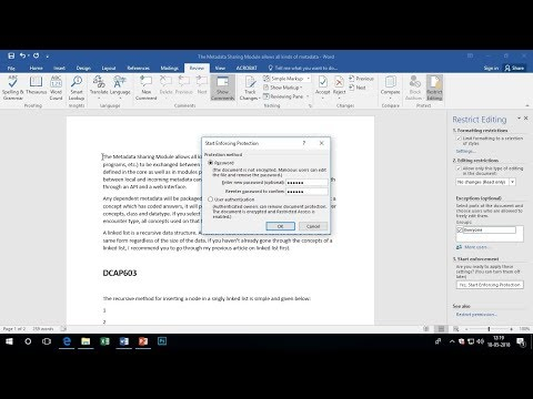 How to restrict permission to a workbook in Excel 2007/10/13/16 Latest 2018