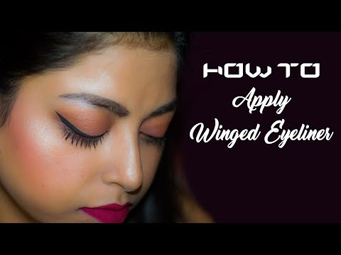 How To: Apply Winged Eyeliner / Cat Eyeliner For Beginners | Makeup Basics Series | Indian Makeup
