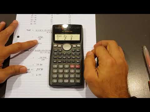 Calculating Mean, Variance and Standard Deviation Using 570 MS Calculator