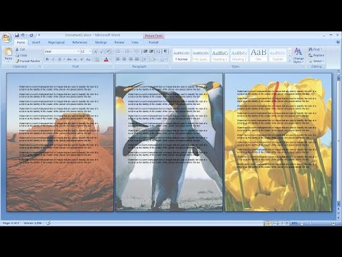 How to create a watermark only to the selected page in word | Picture watermark