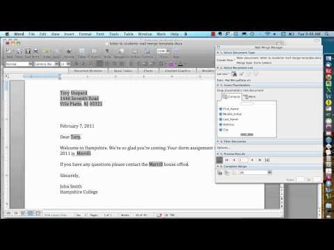 Mail Merge for Mac - Advanced Options