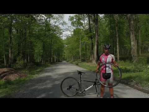 Road-side Flat Change on a Tubeless Road Bike - Stan's NOTUBES & Amanda Carey