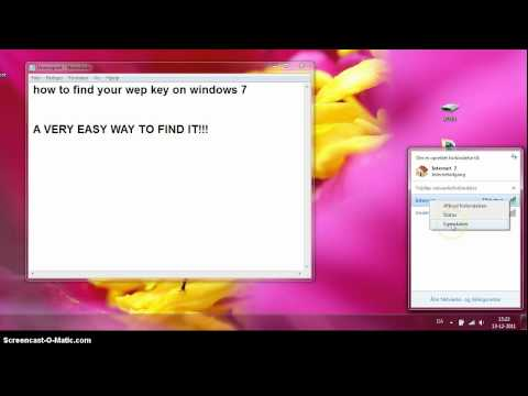 how to find your wep key on windows 7