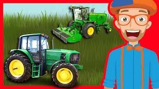 Tractors and Trucks for Children by Blippi | Educational Videos for Kindergarten