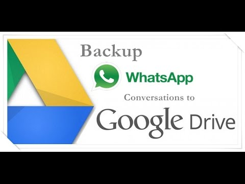 How to Backup Whatsapp Chats or Conversations to Google drive