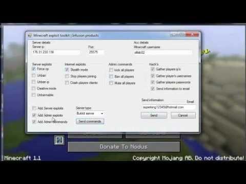 [Release] Free Minecraft 1.2.5 Force Op/Unban/Kick [Mediafire] - May 2012