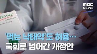'먹는 낙태약'도 허용…국회로 넘어간 개정안 (2020.11.17/뉴스데스크/MBC)