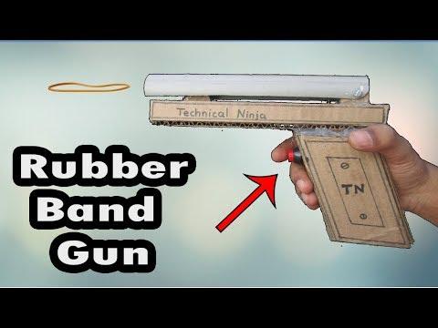 How to Make Amazing Rubber Band Machine Gun | Homemade | Technical Ninja