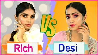 Rich vs Desi Makeup Look | Step By Step for Beginners | Anaysa
