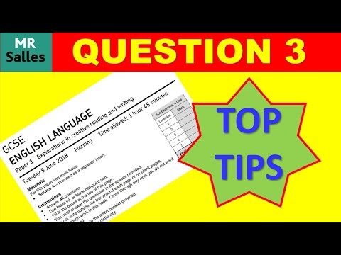 Examiner's Advice on Question 3 Paper 1 English Language GCSE 8700