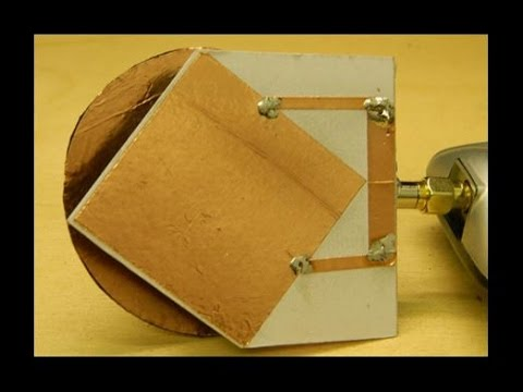 Patch Antenna for 2 4gHZ with Circular Polarisation