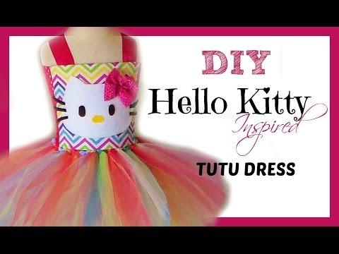 D.I.Y. Hello Kitty Birthday Tutu Dress Tutorial
