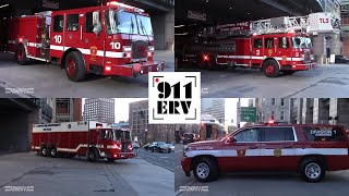 Boston Fire Department E10, TL3, R1, C6 Responding