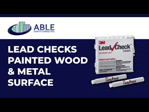 How to Use Lead-Check Swabs to Test for Lead Based Paint On Painted Wood and Metal Surfaces