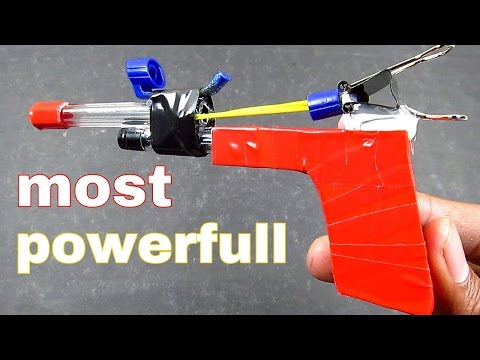 POWERFUL gun - [ how to make ]