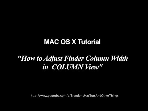 Mac Tutorial | Adjust Finder Column Width | All Columns Simultaneously