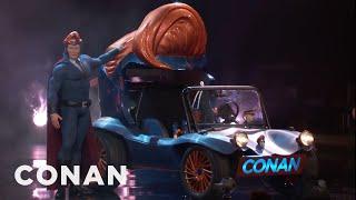 Conan Unveils His Superhero Vehicle  - CONAN on TBS