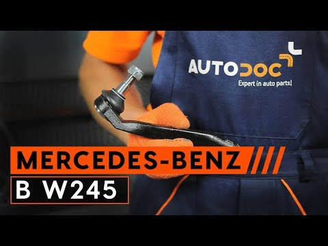 How to replace a track rod end on MERCEDES-BENZ B W245 [TUTORIAL AUTODOC]
