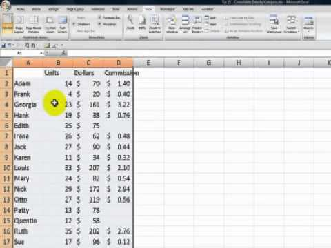 Consolidate Excel Data By Category or Label