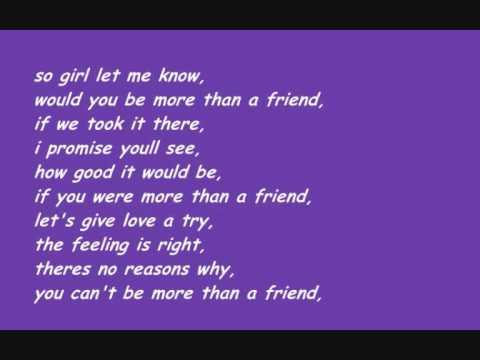 Stevie Hoang - More Than A Friend /w lyrics