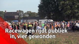 Auto rijdt publiek in bij crossevenement in Leende