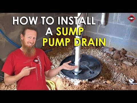 How To Install A Sump Pump Discharge Line | Sump Pump Drain Installation | Crawl Space Basement