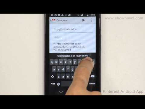 Pinterest Android App - How To Share A Pin Through Gmail