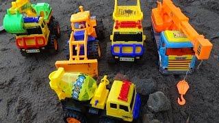 Truck Toys For Children : Dump Truck, Excavator Crane, Power Shovel Toys part 2