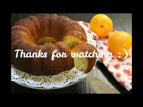 Orange bundt cake / Gâteau à l'orange / كعكة البرتقال