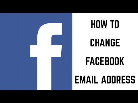 How to Change Facebook Email Address