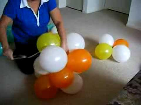 DIY: 3 Color Spiral Balloon Arch / Arco Espiral 3 Cores