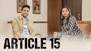 What is Article 15? Ft. Ayushmann Khurrana | #RealTalkTuesday