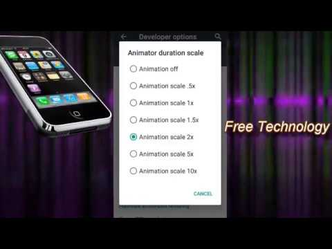 How to speed up your android phone adjusting animation settings | Android Tips | Free Technology