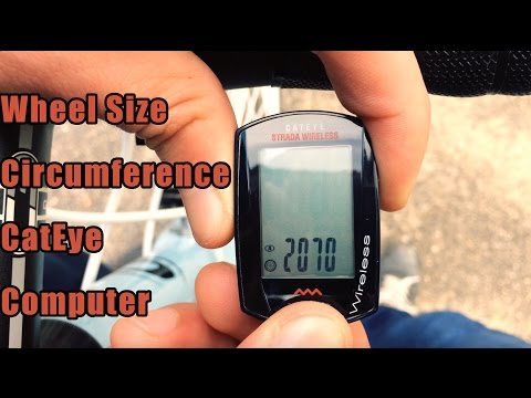 How to Set Wheel Size Bike Computer CatEye