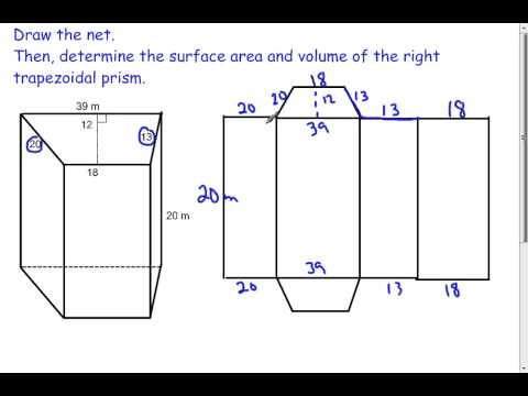 Trapezoidal Prisms - Volume and Surface Area (7.2)