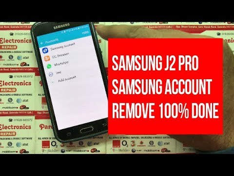 samsung j2 pro samsung account Remove and reset | Pardeep Electronics