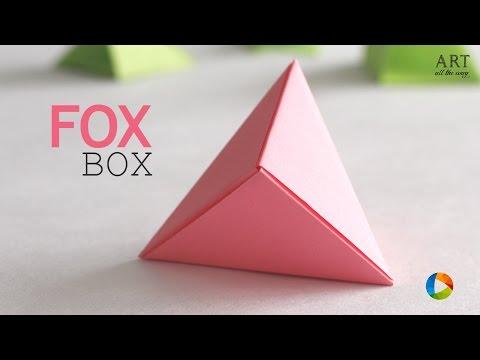 How to make Origami Fox Box