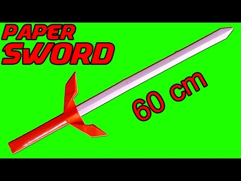 How to make a PAPER SWORD - NINJA SWORD Tutorial