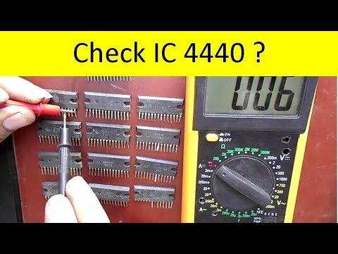 How To Check IC with Multimeter (IC4440)